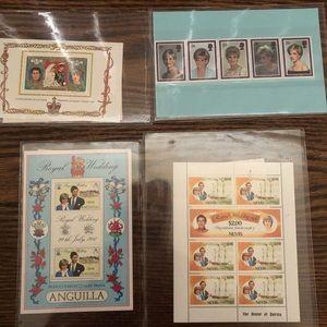 Commemorative stamps of Princess Diana/Charles.